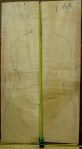 Double bass No.10 Back and Sides made with Curly maple in 2015 AA grade