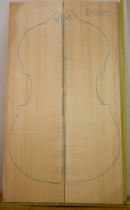 Double bass No.41 Top made with Spruce in 2013 B grade