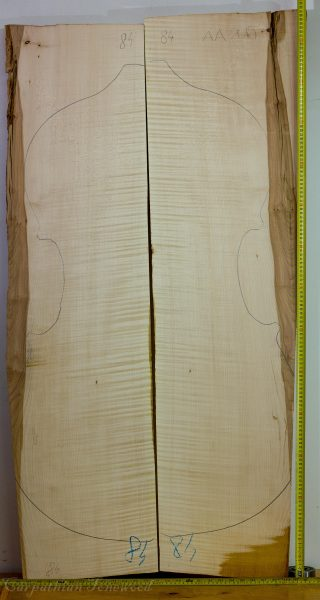 Double bass No.84 Back and Sides made with Curly maple in 2015 AA grade