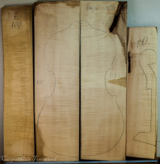 Double bass No.100 Back and Sides made with Curly maple in 2016 AAA grade