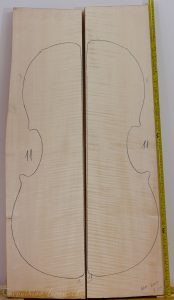 Cello No.11 Back and Sides made with Curly Maple in 2015 AAA grade