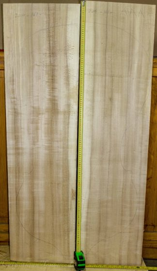 Double bass No.161 Back and Sides made with Poplar in 2014 AAA grade
