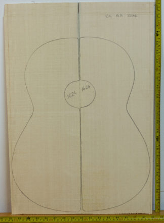 Guitar classical No.1624 Top made with Spruce in 2016 AA grade