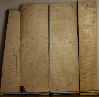 Double bass No.1 Back and Sides made with Curly maple in 2016 AAA grade