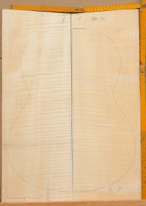 Guitar classical No.1 Back and Sides made with Curly maple in 2014 AAA grade