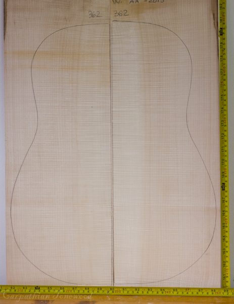 Guitar western No.362 Back and Sides made with Curly maple in 2013 AA grade