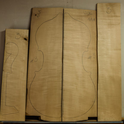 Double bass No.3 Back and Sides made with Curly maple in 2016 AAA grade