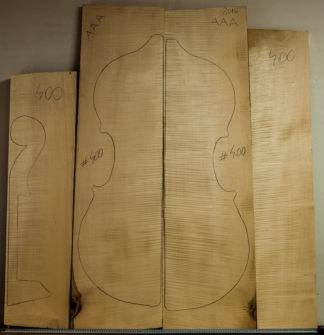 Double bass No.400 Back and Sides made with Curly maple in 2016 AAA grade