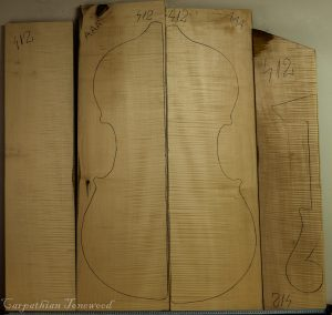 Double bass No.412 Back and Sides made with Curly maple in 2016 AAA grade