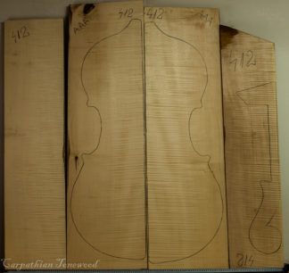 Double bass Curly maple Back and Sides
