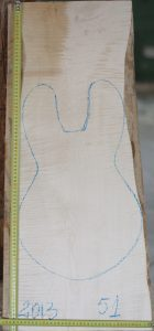 Guitar electrical No.51 Top made with Curly maple in 2013 A grade