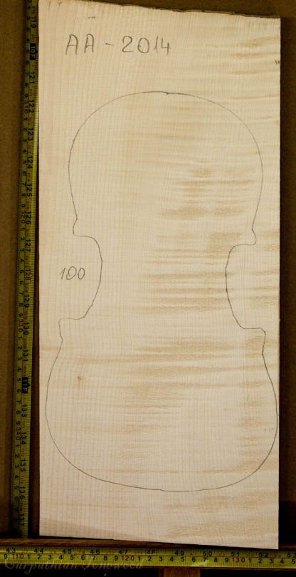Violin No.100 One piece Back and Sides made with Curly Maple in 2014 AA grade