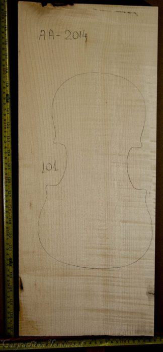 Violin No.101 One piece Back and Sides made with Curly Maple in 2014 AA grade