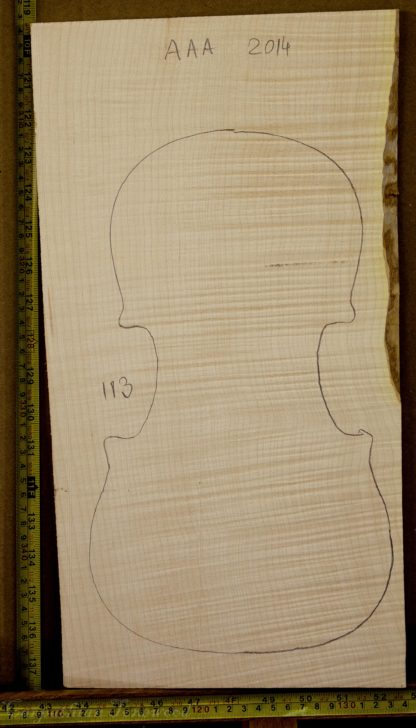 Viola No.113 One piece Back and Sides made with Curly Maple in 2014 AAA grade