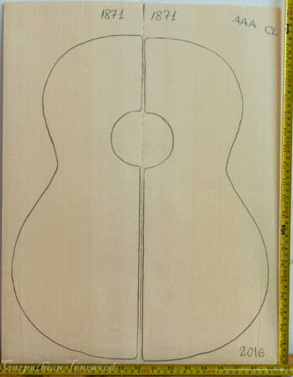 Guitar classical No.1871 Top made with Spruce in 2016 AAA grade