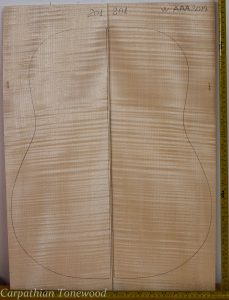 Guitar western No.201 Back and Sides made with Curly maple in 2014 AAA grade