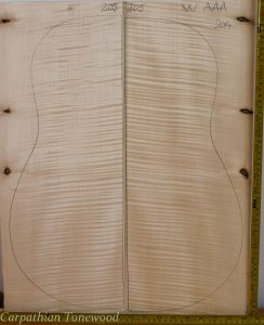 Guitar western No.205 Back and Sides made with Curly maple in 2014 AAA grade