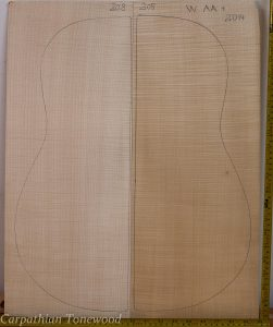 Guitar western No.208 Back and Sides made with Curly maple in 2014 AA grade