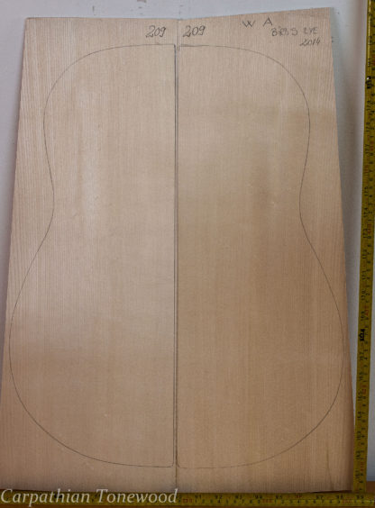 Guitar western No.209 Back and Sides made with Curly maple in 2014 A grade