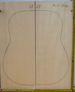 Guitar archtop No.21 Top made with Spruce in 2016 AA grade