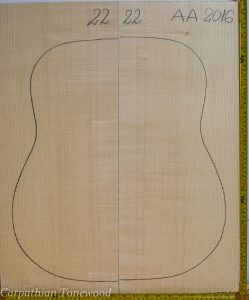 Guitar archtop No.22 Top made with Spruce in 2016 AA grade