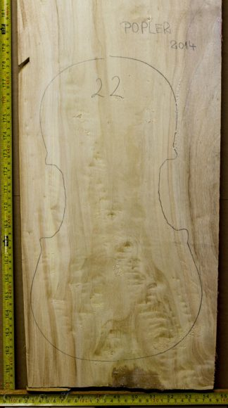 Viola No.22 One piece Back and Sides made with Poplar in 2014 AA grade