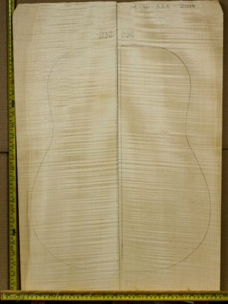 Guitar western No.232 Back and Sides made with Curly maple in 2014 AAA grade
