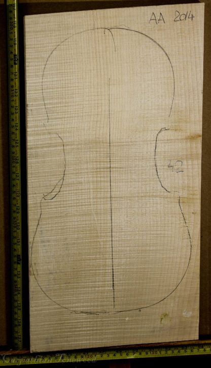 Violin No.42 One piece Back and Sides made with Curly Maple in 2014 AA grade