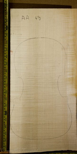 Viola No.43 One piece Back and Sides made with Curly Maple in 2014 AA grade