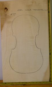 Viola No.55 One piece Back and Sides made with Curly maple in 2014 A grade