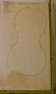 Viola No.56 One piece Back and Sides made with Curly maple in 2014 A grade