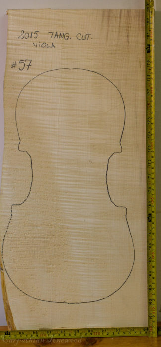 Viola No.57 One piece Back and Sides made with Curly maple in 2015 AA grade