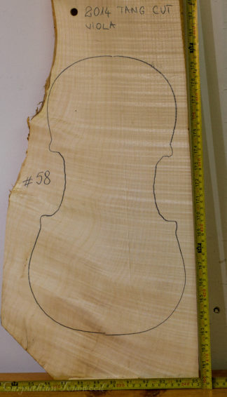 Viola No.58 One piece Back and Sides made with Curly maple in 2014 A grade