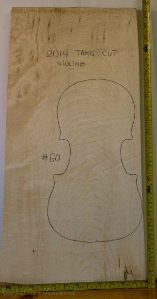 Viola No.60 One piece Back and Sides made with Curly maple in 2014 A grade