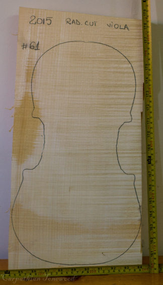 Viola No.61 One piece Back and Sides made with Curly Maple in 2015 AA grade