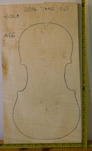 Viola No.66 One piece Back and Sides made with Curly maple in 2014 A grade