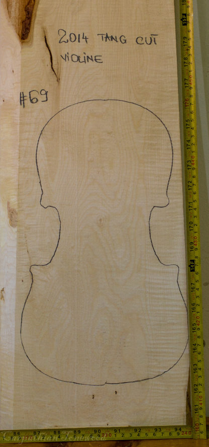Viola No.69 One piece Back and Sides made with Curly maple in 2014 A grade