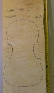 Viola No.71 One piece Back and Sides made with Curly maple in 2014 A grade