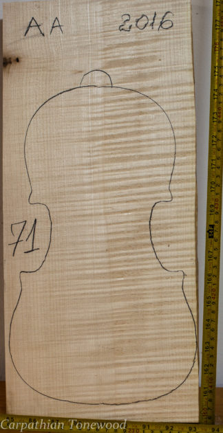 Violin No.71 One piece Back and Sides made with Curly Maple in 2016 AA grade