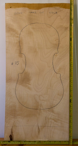 Viola No.75 One piece Back and Sides made with Curly maple in 2014 A grade