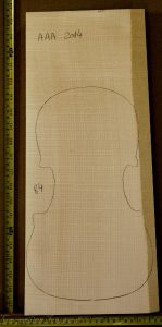Violin No.84 One piece Back and Sides made with Curly Maple in 2014 AAA grade