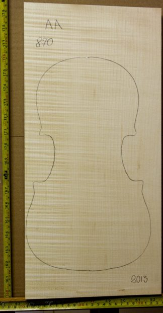 Viola No.870 One piece Back and Sides made with Curly Maple in 2013 AA grade