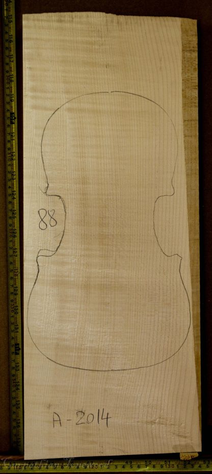 Violin No.88 One piece Back and Sides made with Curly Maple in 2014 A grade