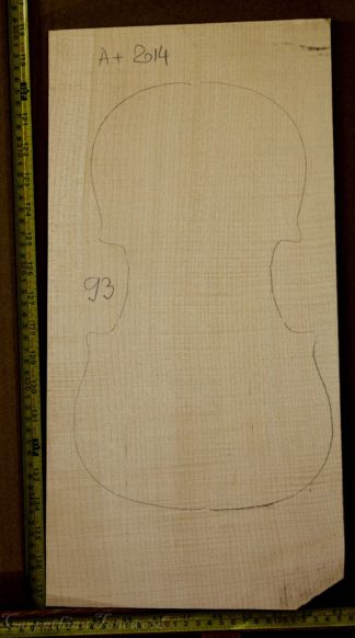 Viola No.93 One piece Back and Sides made with Curly Maple in 2014 A grade