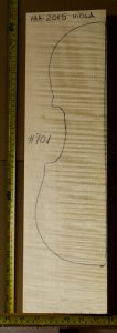 Viola No.701 Back and Sides made with Curly Maple in 2015 AAA grade