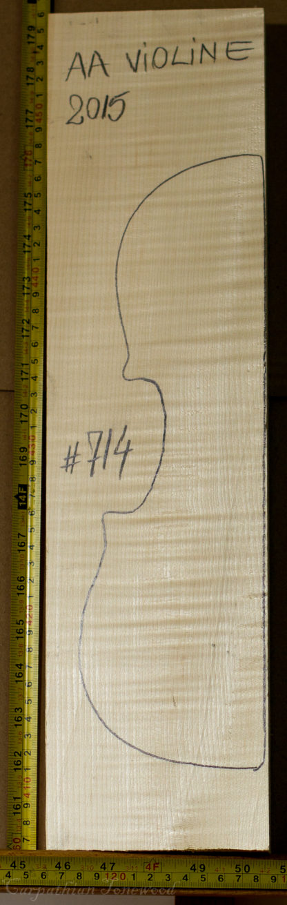 Violin No.714 Back and Sides made with Curly Maple in 2015 AA grade