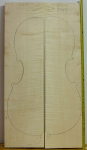Cello No.17 Back and Sides made with Curly Maple in 2015 A grade