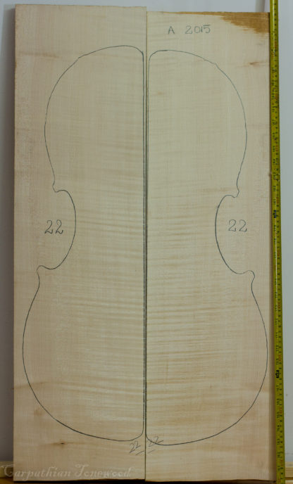 Cello No.22 Back and Sides made with Curly Maple in 2015 A grade