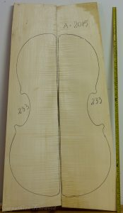 Cello No.233 Back and Sides made with Curly Maple in 2015 A grade