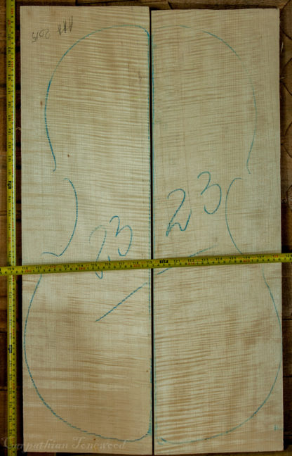 Cello No.23 Back and Sides made with Curly Maple in 2015 AAA grade